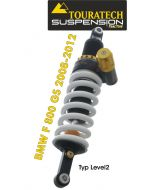 Touratech Suspension shock absorber for BMW F800GS up to 2012 type Level2