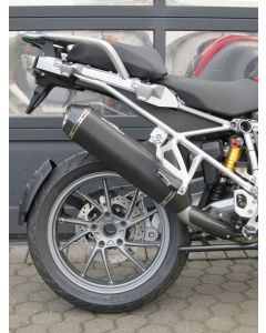 Silencer AC-Schnitzer Stealth, black, slip-on for BMW R1250GS/ R1200GS (LC) from 2017/ R1200GS Adventure (LC) from 2017