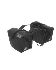 Saddle bags ENDURANCE Velcro (pair), black, by Touratech Waterproof made by ORTLIEB