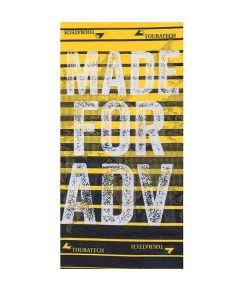"Multi functional head cloth ""Stripes"", black/yellow"